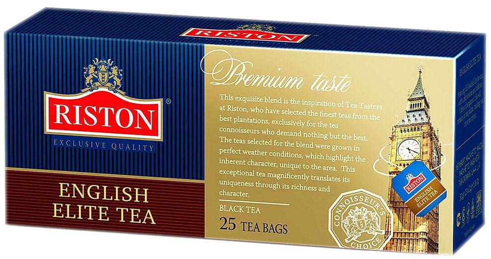 Riston Элитный Английский черный чай в пакетиках, 25 шт riston файнест цейлон черный чай в пакетиках 100 шт