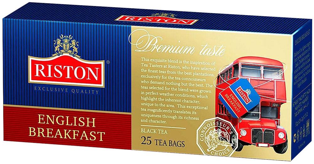 Riston Английский Завтрак черный чай в пакетиках, 25 шт riston файнест цейлон черный чай в пакетиках 100 шт