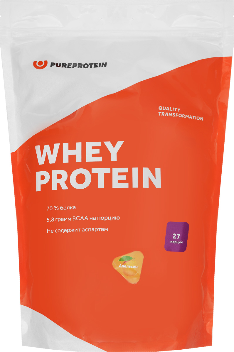 Протеин PureProtein Whey Protein, апельсин, 810 г m5 1 8 1 4 3 8 1 2 male 4 6 8 10 12mm straight push in fitting pneumatic male connector