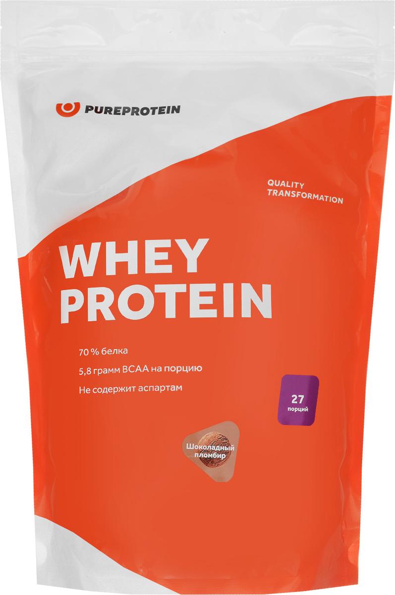 Протеин PureProtein Whey Protein, шоколадный пломбир, 810 г