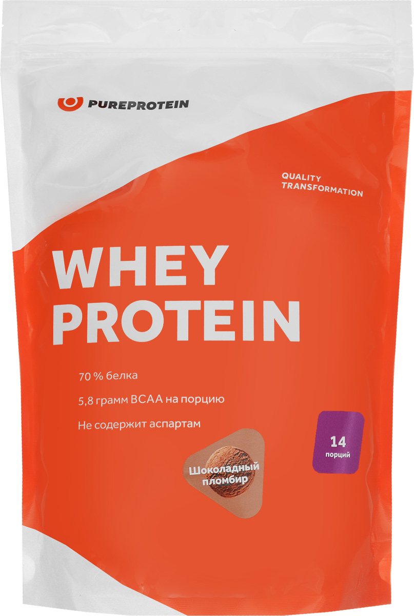 Протеин PureProtein Whey Protein, шоколадный пломбир, 420 г