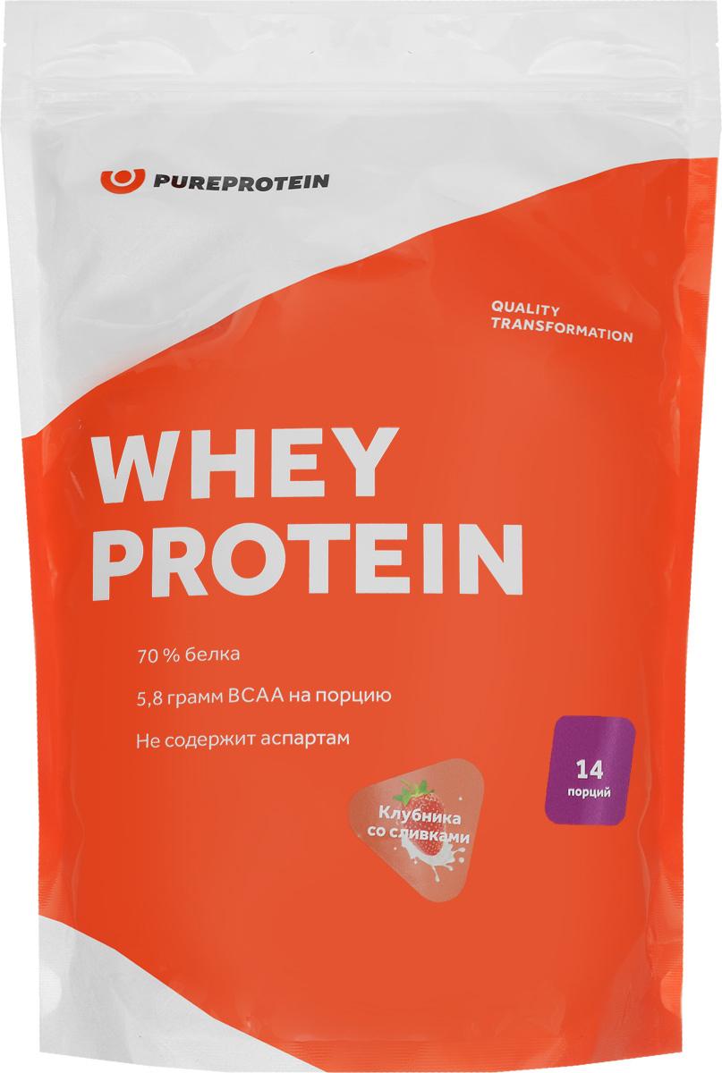 Протеин PureProtein Whey Protein, клубника со сливками, 420 г