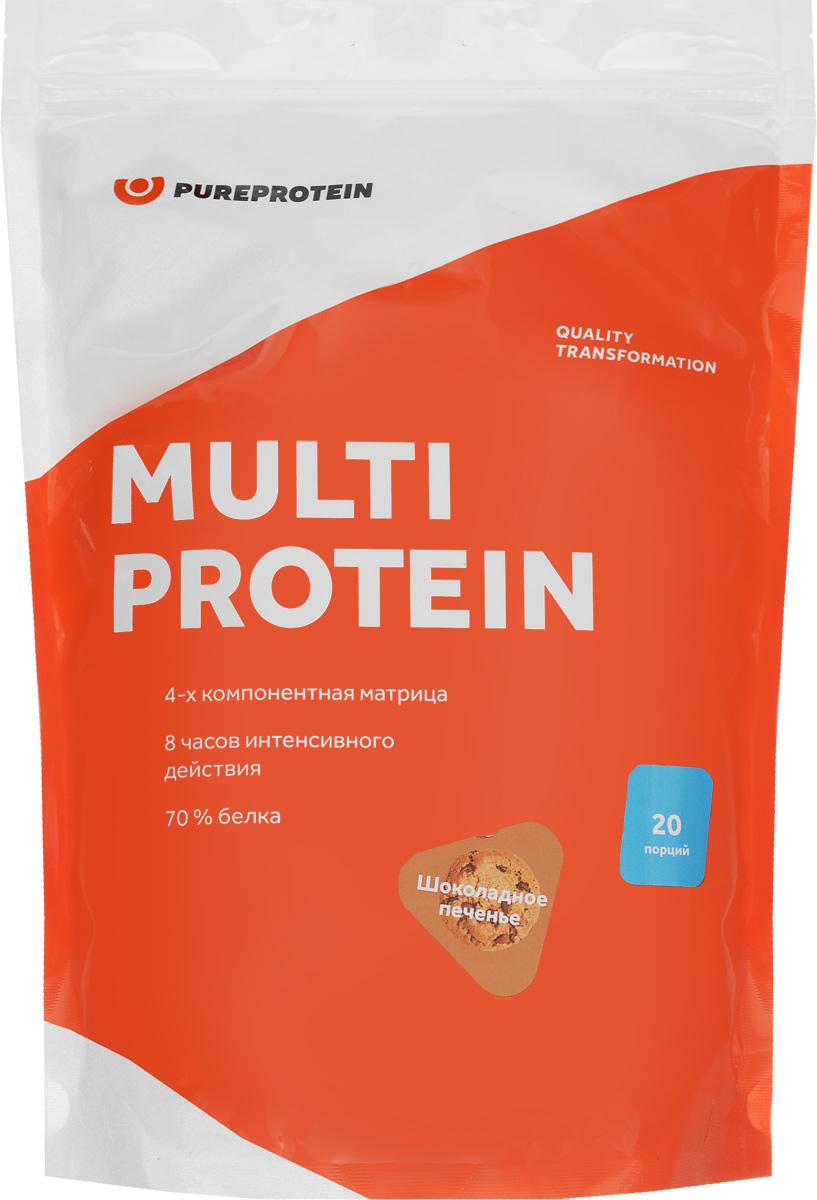 Протеин PureProtein Multi Protein, шоколадное печенье, 600 г протеин qnt белковая смесь easy body protein банан клубника 350 г