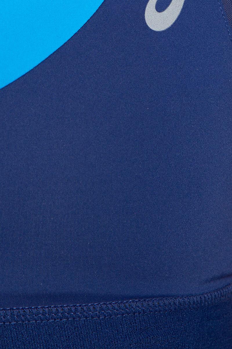 Спортивный топ-бра для бега Asics Race Bra, выполненный из высококачественного эластичного полиамида, дополнен съемными поролоновыми вставками. Модель на не регулируемых по длине бретелях имеет широкий эластичный пояс, который обеспечивает бережную поддержку. Широкие бретельки и спинка-борцовка надежно фиксируют топ на плечах. Модель дополнена сетчатыми вставками, обеспечивающими необходимую циркуляцию воздуха.