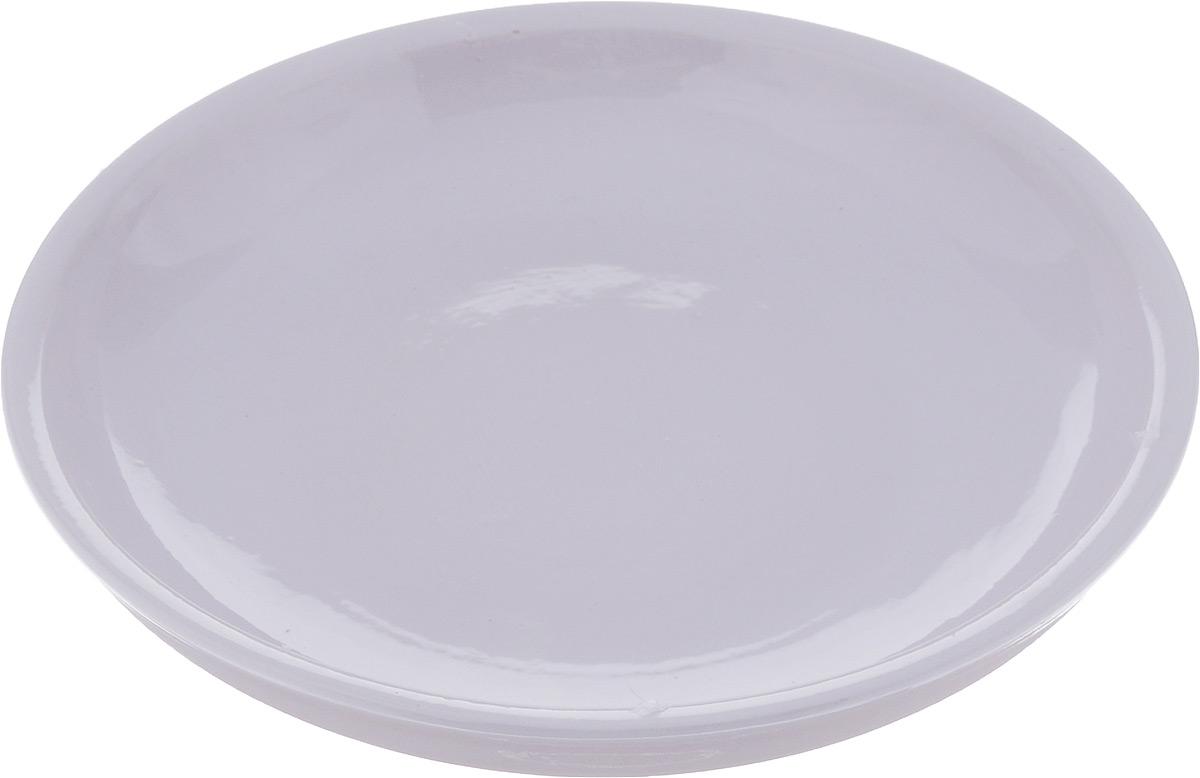"""Тарелка Борисовская керамика """"Радуга"""", цвет: светло-сиреневый, диаметр 18 см"""