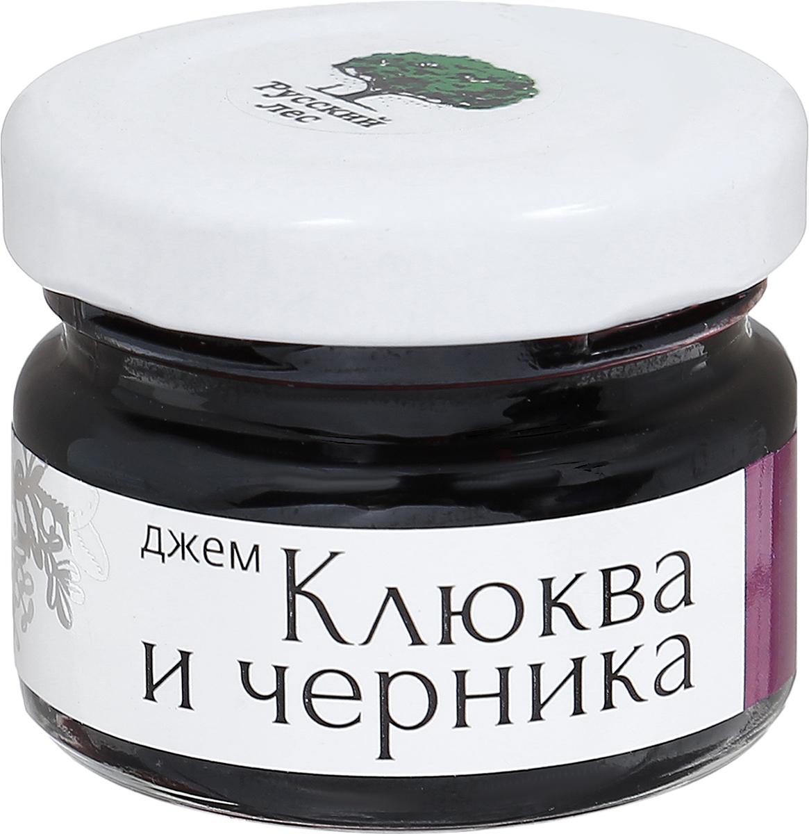 Русский лес Клюква и черника джем без сахара, 25 г mr djemius zero низкокалорийный джем клюква 270 г