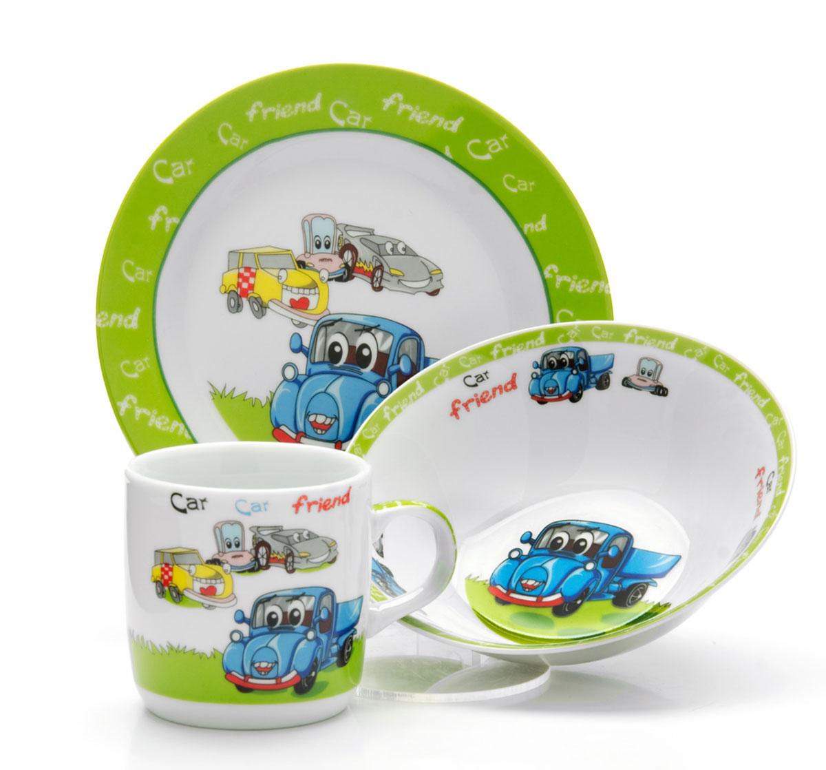 Набор детской посуды Loraine Машинки, 3 предмета26093