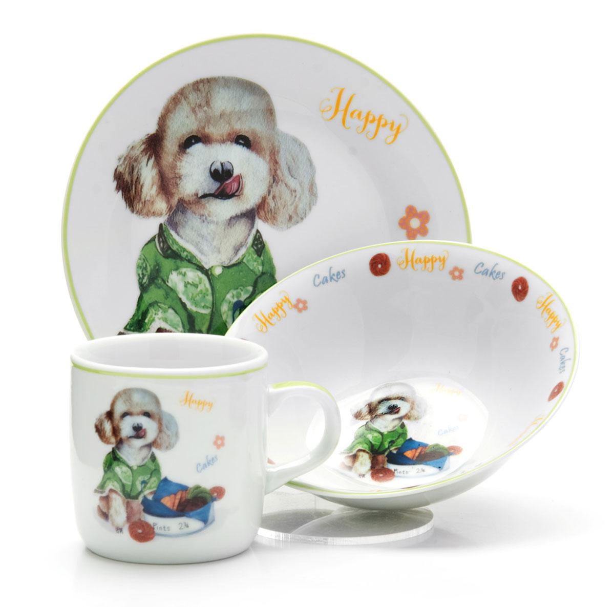 Набор детской посуды Loraine Собачка, 3 предмета26094