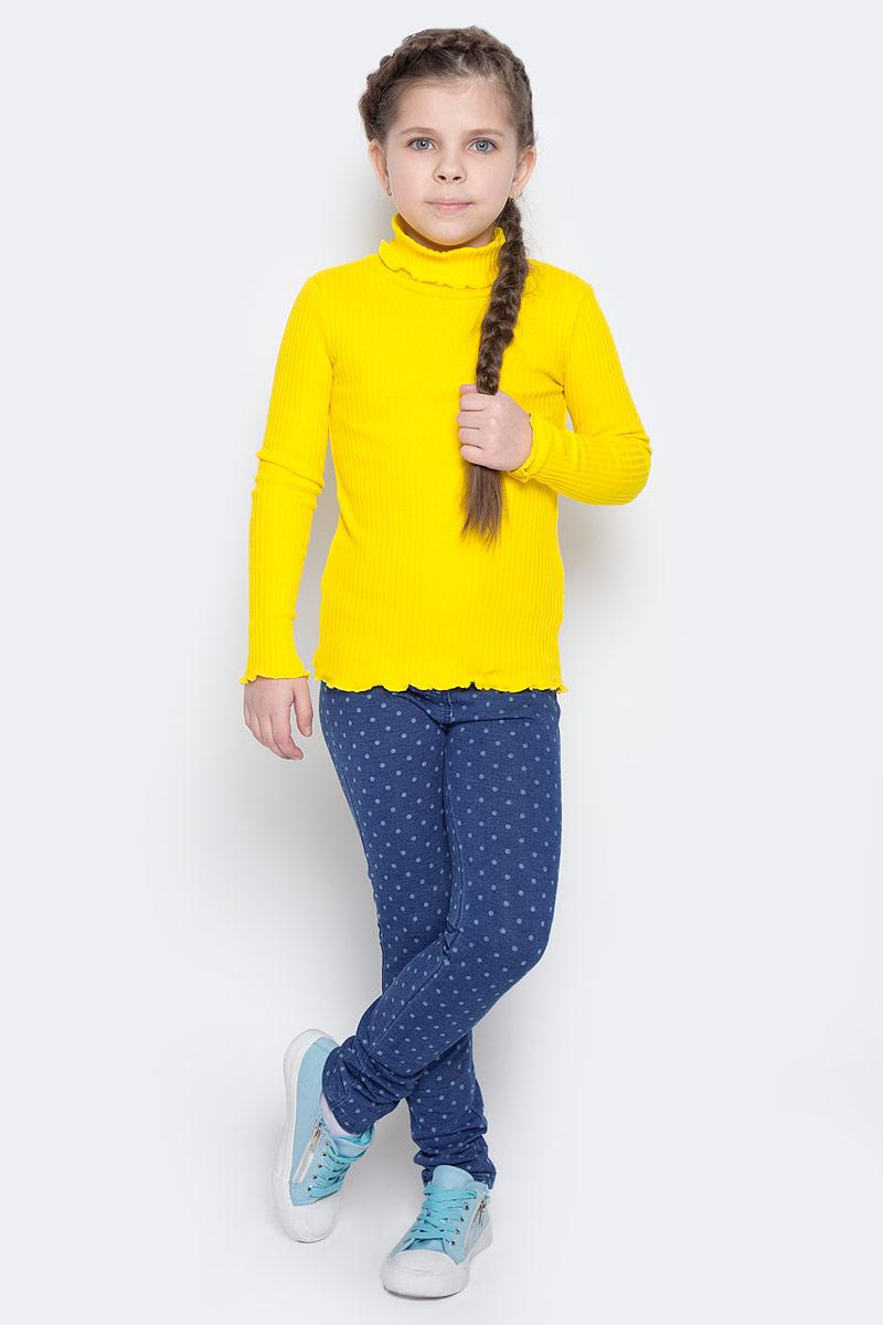 Водолазка для девочки PlayToday, цвет: желтый. 362161. Размер 128362161Мягкая водолазка для девочки с высоким воротником, надежно защищающим от ветра,выполнена из эластичного гофрированного трикотажа, благодаря чему она идеально садится по фигуре ребенка. Яркий цвет модели позволяет создавать стильные образы.