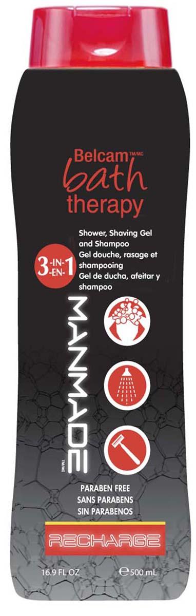 Bath Therapy Гель для душа, пена для бритья и шампунь Подзарядка 3 в 1, 500 мл. гели bath therapy гель для душа шампунь для детей взрывной апельсин 2 в 1 new