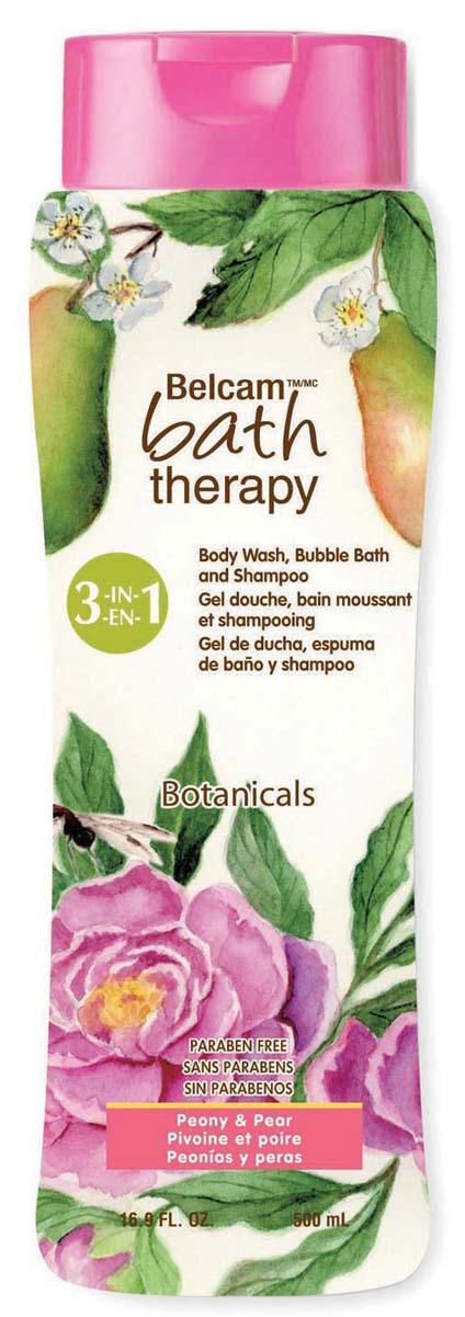Bath Therapy Шампунь, Гель Для Душа, Пена Для Ванны «Пион и Груша» 3-в-1, 500 мл. гели bath therapy гель для душа шампунь для детей взрывной апельсин 2 в 1 new