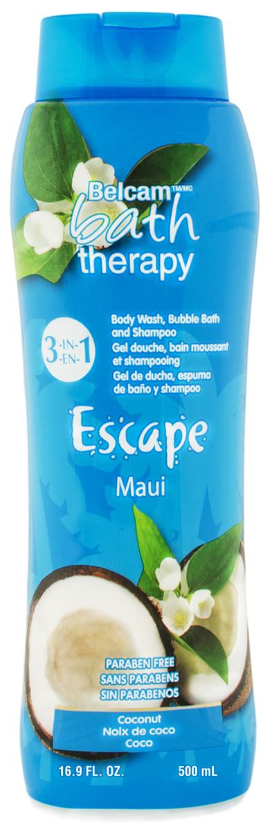 Bath Therapy Шампунь, Гель для Душа, Пена для Ванны Кокос Мауи 3-в-1, 500 мл. гели bath therapy гель для душа шампунь для детей взрывной апельсин 2 в 1 new