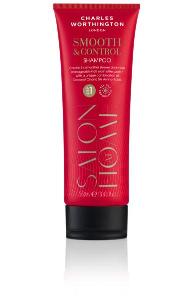 Charles Worthington Шампунь для волос Гладкость и контроль, 250 мл.R5107С помощью уникального сочетания кокосового масла и аминокислоты шелка этот роскошный разглаживающий шампунь делает волосы до 3x раз более гладкими, сияющими, и более послушными. Благодаря специальной технологии FragranceLock ™, шампунь придает волосам стойкий приятный аромат, которым Вы будете наслаждаться в течение всего дня