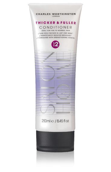 Charles Worthington Кондиционер для волос Плотные и густые, 250 мл.R5122Кондиционер делает тонкие волосы более плотными всего за одну неделю. Обогащенный капсулированным витамином Е он заботится о коже головы, улучшает состояние волос и уменьшает их ломкость. Волосы становятся более густыми, мягкими, послушными и здоровыми.Благодаря специальной технологии FragranceLock ™, шампунь придает волосам стойкий приятный аромат, которым Вы будете наслаждаться в течение всего дня