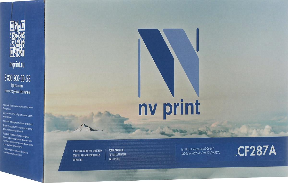 NV Print CF287A, Black тонер-картридж для HP LaserJet Enterprise M506/M527 картридж для принтера nv print hp q5949x q7553x black