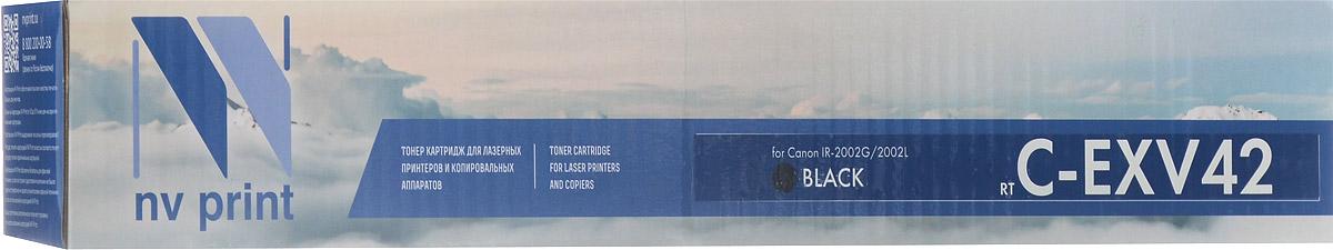 NV Print CEXV42, Black тонер-туба для Canon iR-2002 картридж для принтера nv print canon ep 22 black
