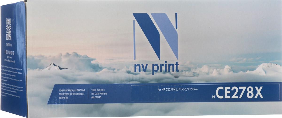 NV Print CE278X, Black тонер-картридж для HP LaserJet Pro P1566/P1606W nv print nv q7516a black тонер картридж для hp laserjet 5200 5200tn 5200dtn