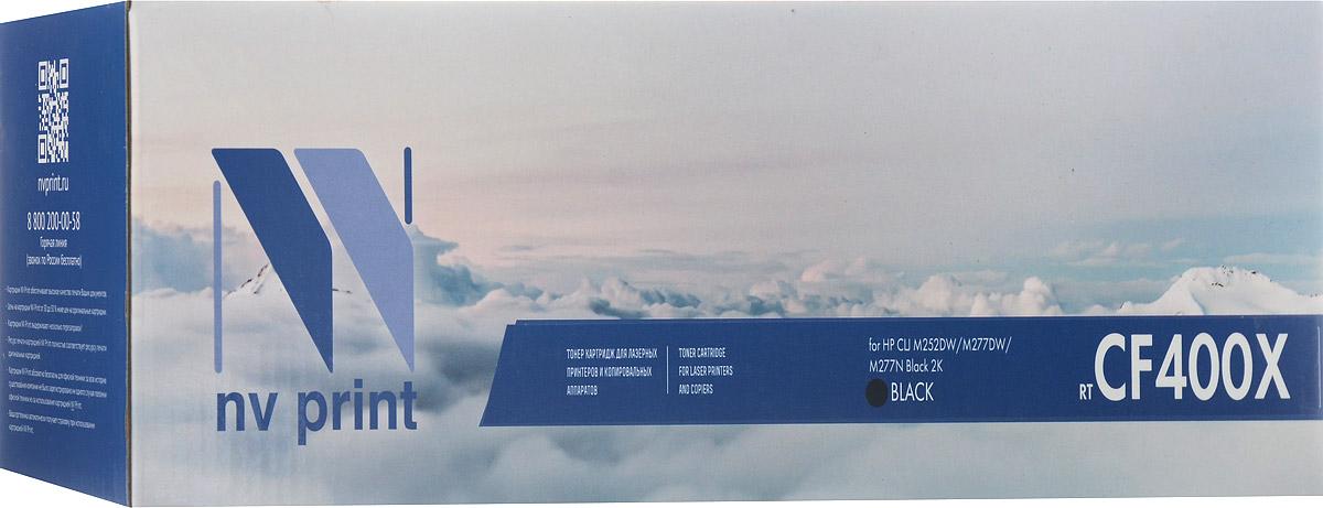 NV Print CF400X, Black тонер-картридж для HP Color LaserJet Pro M252dw/M277dw/M277n картридж для принтера nv print canon ep 22 black