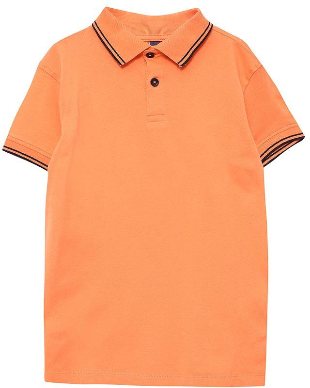 Поло для мальчика Sela, цвет: розово-оранжевый. Tsp-711/520-7161. Размер 110, 5 летTsp-711/520-7161Стильная футболка-поло для мальчика Sela выполнена из качественного хлопкового материала и оформлена контрастными полосками на воротнике и манжетах рукавов. Модель прямого кроя с разрезами по бокам и отложным воротничком застегивается на пуговицы до середины груди.Яркий цвет модели позволяет создавать стильные летние образы.