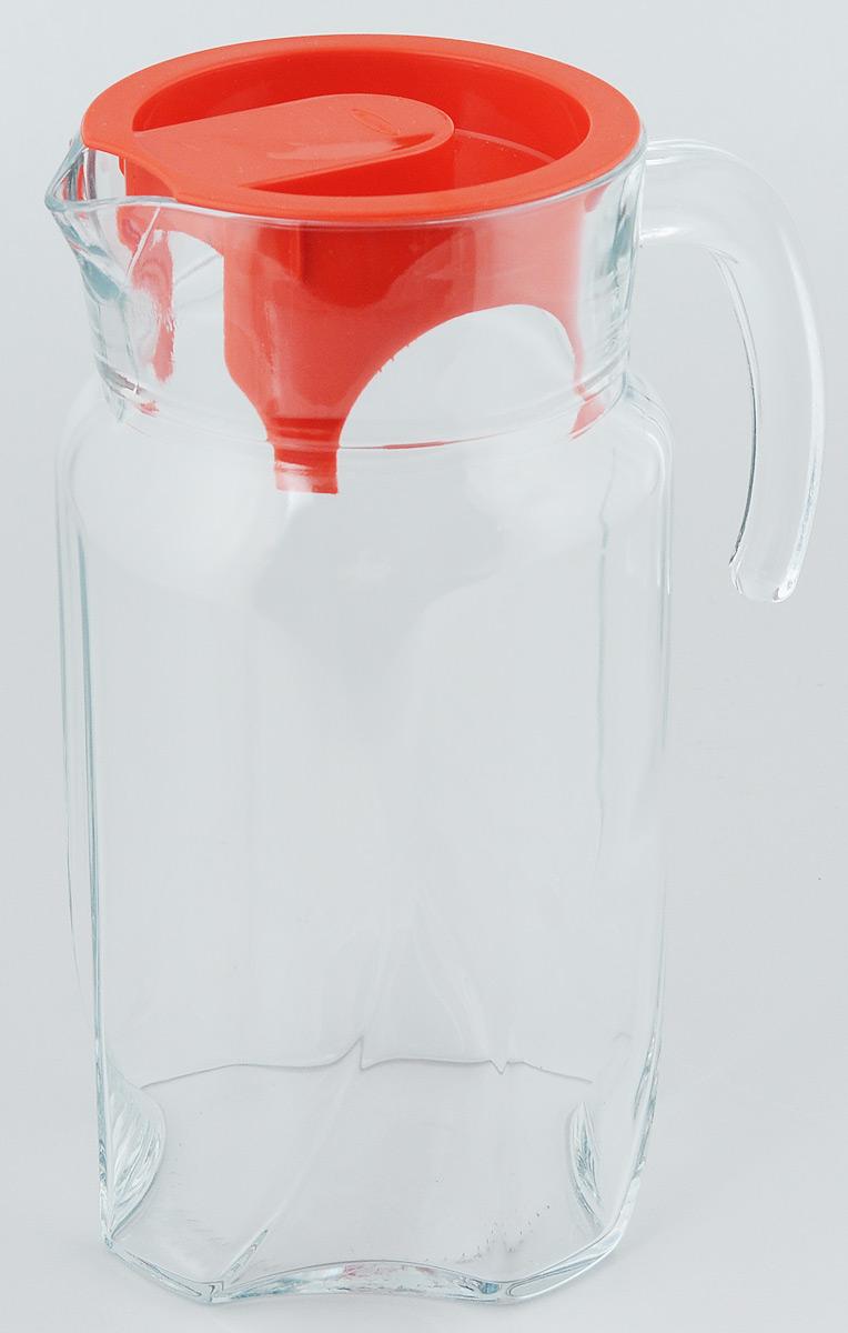 """Кувшин Pasabahce """"Luna"""", выполненный из прочного натрий-кальций-силикатного стекла, элегантно украсит ваш стол. Такой кувшин прекрасно подойдет для подачи воды, сока, компота и других напитков. Кувшин плотно закрывается пластиковой крышкой. Крышка устроена таким образом, что выливать жидкость можно не снимая ее, так как напиток будет проходить через специальную выемку.  Совершенные формы и изящный дизайн, несомненно, придутся по  душе любителям классического стиля.  Кувшин Pasabahce """"Luna"""" дополнит интерьер вашей кухни и станет  замечательным подарком к любому празднику.Можно мыть в посудомоечной машине.  Диаметр кувшина по верхнему краю (без учета носика): 11 см. Высота кувшина: 23,5 см."""