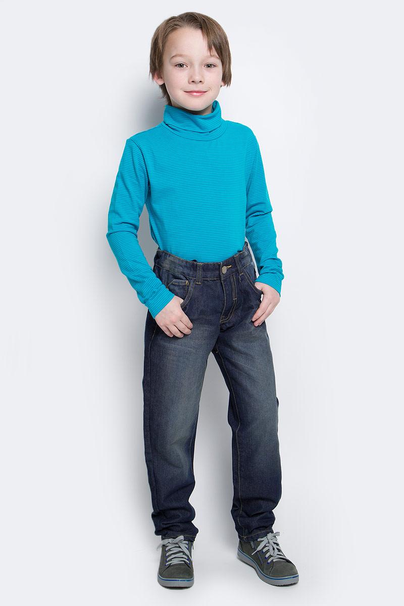 Джинсы для мальчика Button Blue, цвет: синий. 216BBBC6304D100. Размер 98, 3 года216BBBC6304D100Джинсы гарантируют отличный внешний вид и хорошее настроение! Модный силуэт, удобная посадка на фигуре создают комфорт и свободу движений. Выполнены из высококачественного материала.