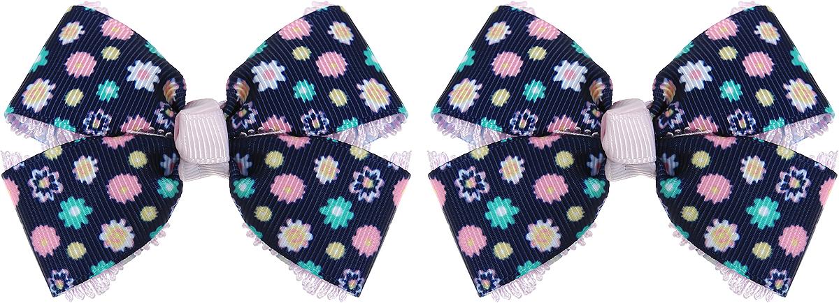 Baby's Joy Резинка для волос с бантиком Школа цвет черный зеленый розовый 2 шт