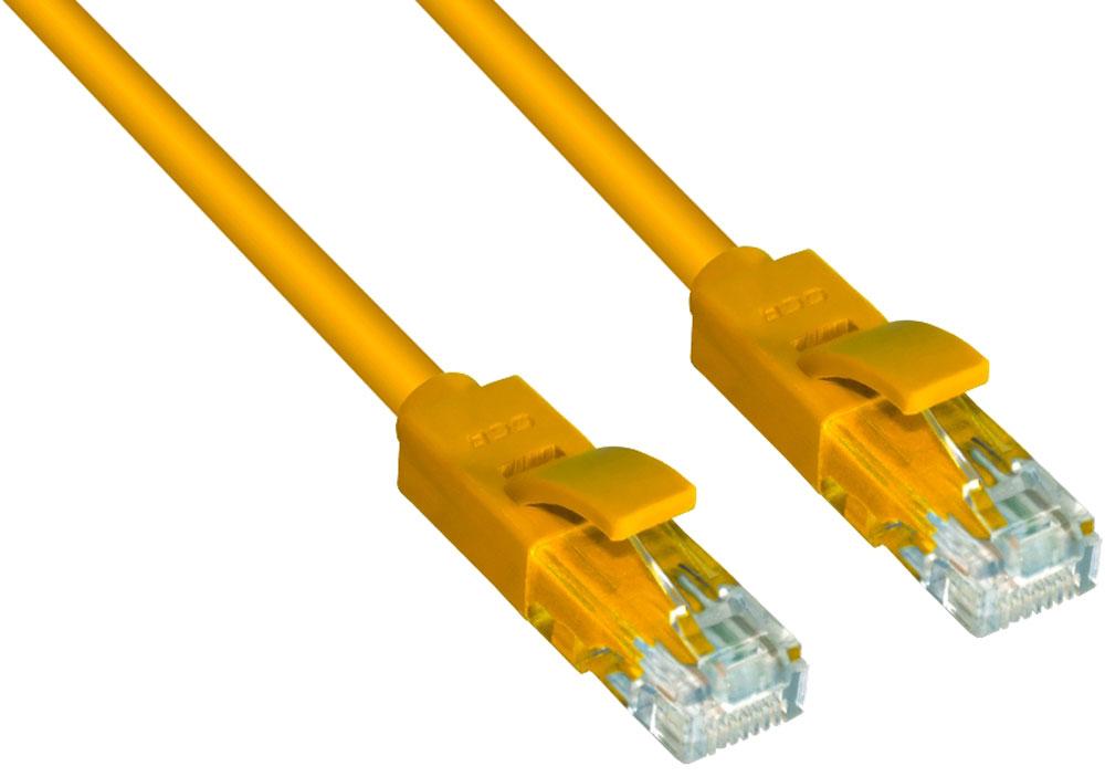 Greenconnect GCR-LNC02 патч-корд (0,5 м)GCR-LNC02-0.5mВысокотехнологичный современный литой патч-корд Greenconnect GCR-LNC02 используется для подключения к интернету на высокой скорости. Подходит для подключения персональных компьютеров или ноутбуков, медиаплееров или игровых консолей PS4 / Xbox One, а также другой техники и устройств, у которых есть стандартный разъем подключения кабеля для интернета LAN RJ-45. Соответствие сетевого патч-корда Greenconnect GCR-LNC02 современному стандарту UTP Cat5e обеспечивает возможность подключения к интернету со скоростью до 1 Гбит/с. С такой скоростью любимые фильмы будут загружаться меньше чем за полминуты, а музыка - мгновенно. Внешняя оболочка сетевого кабеля Greenconnect изготовлена из экологически чистого ПВХ, соответствующего европейскому стандарту безотходного производства RoHS.