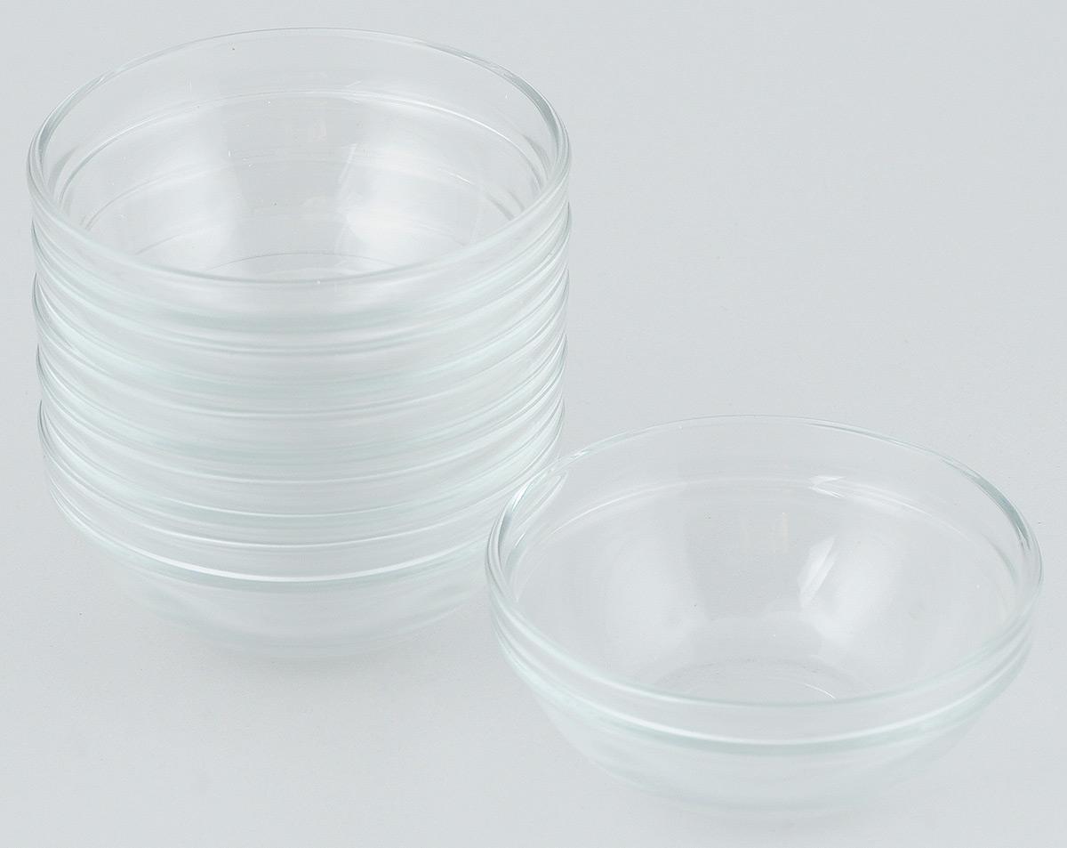 Набор салатников Pasabahce Chefs, диаметр 12 см, 6 шт53543BTНабор Pasabahce Chefs состоит из шести круглых салатников. Салатники выполнены из прочного натрий-кальций-силикатного стекла. Такие салатники отлично подойдут для сервировки закусок, нарезок, салатов и других блюд. Салатники станут отличным подарком к любому празднику.Можно мыть в посудомоечной машине и использовать в микроволновой печи.