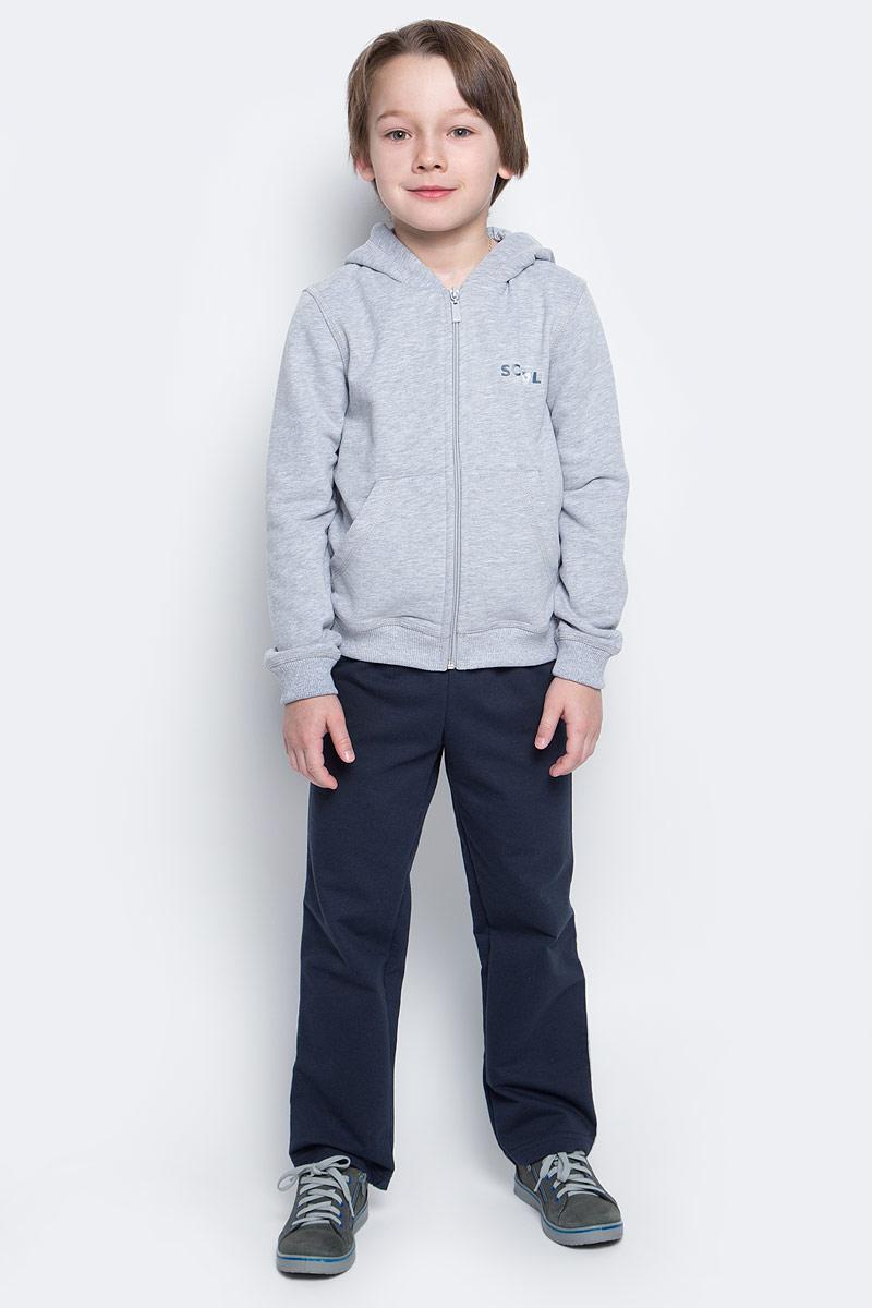 Спортивный костюм для мальчика Pastilla Чемпион, цвет: серый меланж, темно-синий. 6452. Размер 134, Одежда для мальчиков  - купить со скидкой