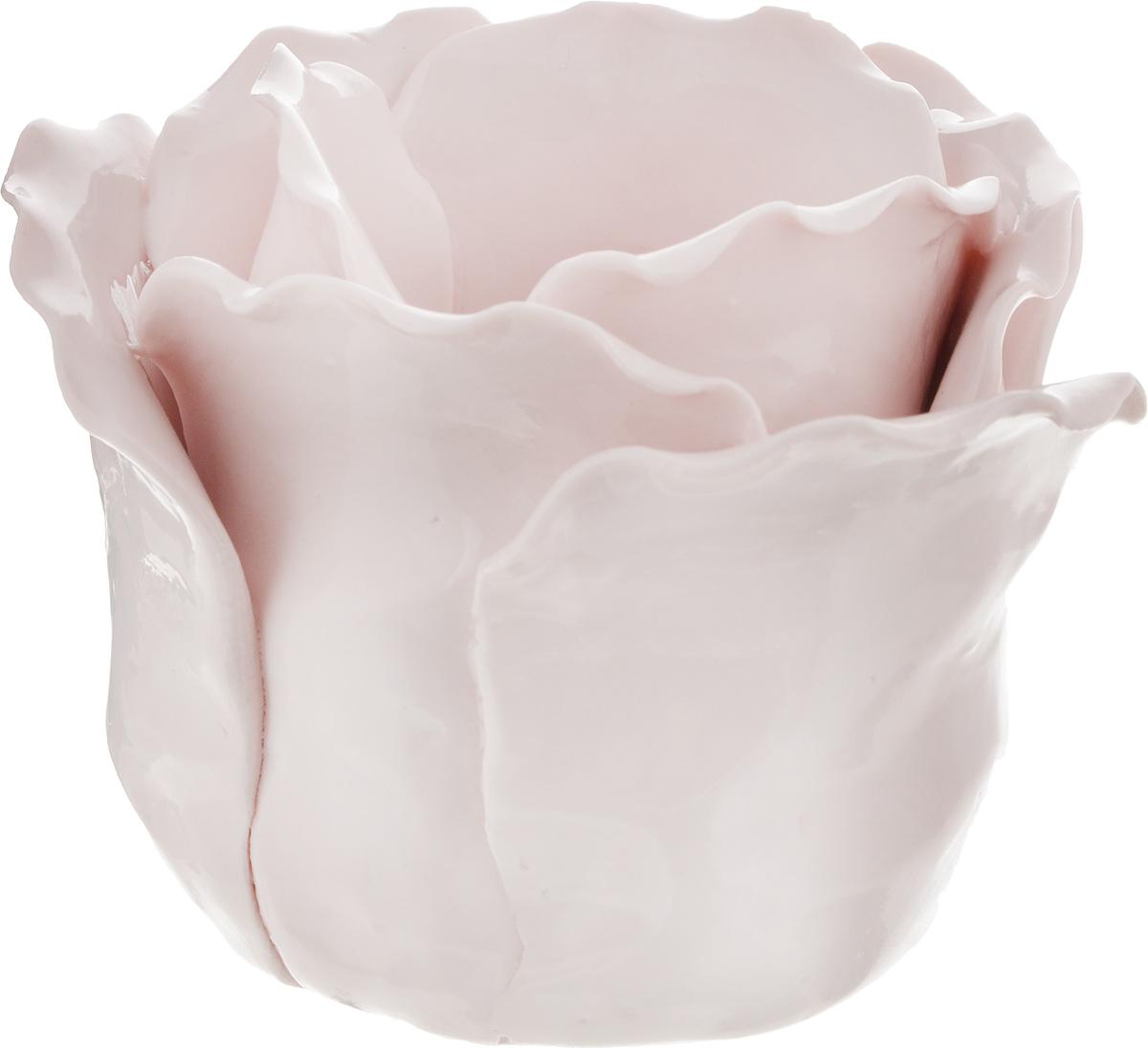 Подсвечник декоративный Феникс-Презент, цвет: розовый, 8,5 х 8,5 х 7,5 см43841Декоративный подсвечник Феникс-Презент изготовлен из фарфора. Подсвечник предназначен для одной свечи. Стильный и изысканный подсвечник позволит украсить интерьер дома или рабочего кабинета оригинальным образом.Вы можете поставить подсвечник в любом месте, где он будет удачно смотреться и радовать глаз. Кроме того - это отличный вариант подарка для ваших близких и друзей. Диаметр отверстия для свечи: 4,5 см.
