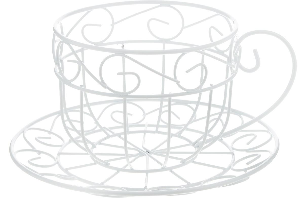 Кашпо Феникс-Презент Чайная чашка, цвет: белый, 22 х 21 х 11,5 см44164Кашпо Феникс-Презент Чайная чашка изготовлено из металла в виде чашки с блюдцем. Кашпо - это декоративная ваза для цветочных горшков.Фигурные кашпо для цветов служат объектом декора помещения. Дом, украшенный фигурными кашпо, приобретает свою оригинальность, свой характер. Неожиданные и оригинальные кашпо для цветов - это самый простой и доступный способ сделать дом, дачу или приусадебную территорию неповторимыми. Кашпо Чайная чашка - красивый и оригинальный сувенир для друзей и близких.Размер кашпо: 22 х 21 х 11,5 см. Диаметр отделения под горшок: 13 см.