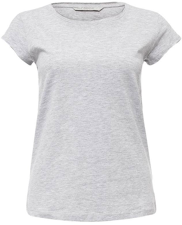 цена Футболка женская Sela, цвет: серый меланж. Ts-111/1221-7181. Размер XXS (40)