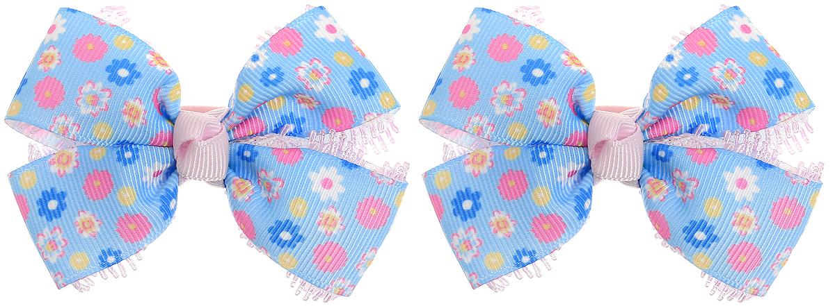 Baby's Joy Резинка для волос Бант Школа цвет голубой синий розовый 2 шт