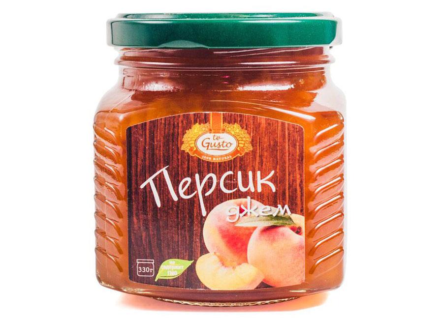 te Gusto Джем из персиков, 330 г масло