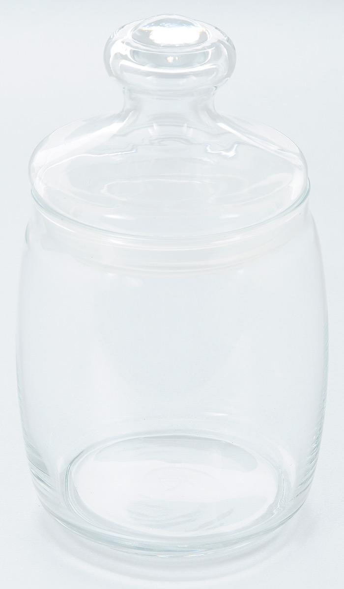 """Банка Pasabahce """"Cesni"""" выполнена из прочного натрий-кальций-силикатного стекла.  Банка оснащена стеклянной плотно прилегающей крышкой с силиконовым кольцом для полной  герметичности. В такой банке удобно  хранить крупы, специи, орехи и многое другое.  Функциональная и практичная, такая банка станет незаменимым аксессуаром на вашей кухне.  Объем банки: 940 мл. Диаметр банки (по верхнему краю): 9 см. Размер банки (с учетом крышки): 10 см х 10 см х 18,5 см.  Диаметр основания: 8 см."""