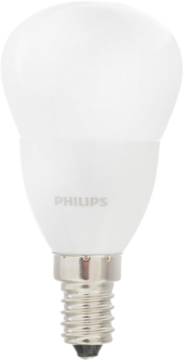 Лампа светодиодная Philips CorePro LEDluster, цоколь E14, 3,5W, 4000K3528Современные светодиодные лампы CorePro LEDluster экономичны, имеют долгий срок службы и мгновенно загораются, заполняя комнату светом. Лампа классической формы и высокой яркости позволяет создать уютную и приятную обстановку в любой комнате вашего дома.Светодиодные лампы потребляют на 90 % меньше электроэнергии, чем обычные лампы накаливания, излучая при этом привычный и приятный свет. Срок службы светодиодной лампы CorePro LEDluster составляет до 15 000 часов, что соответствует общему сроку службы пятнадцати ламп накаливания. Благодаря чему менять лампы приходится значительно реже, что сокращает количество отходов.Напряжение: 220-240 В. Световой поток: 290 lm.Эквивалент мощности в ваттах: 25 Вт.