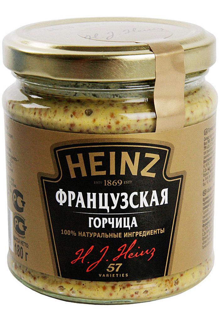 Heinz горчица Французская, 180 г75980273Деликатесная горчица Heinz с дроблеными зернами приготовлена по традиционному французскому рецепту.Отличается мягким вкусом с острыми нотками. Придаст любому блюду из мяса и птицы особую пикантность.