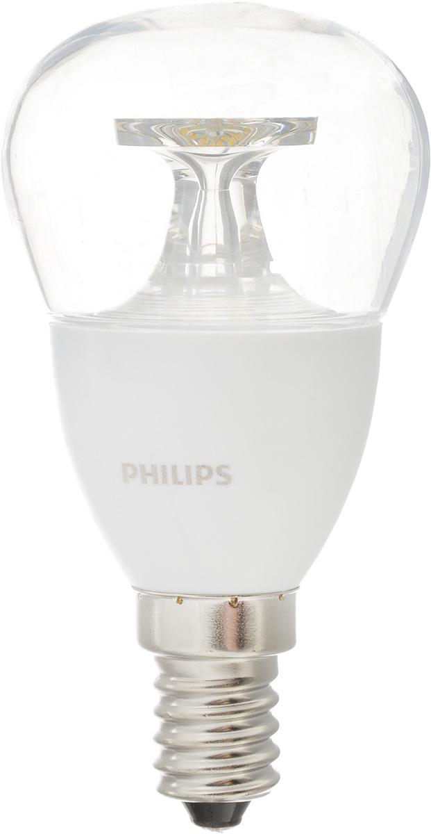 Лампа светодиодная Philips CorePro LEDluster, цоколь E14, 5,5W, 4000KCorepro lustre ND 5.5-40W E14 840 P45 CLСовременные светодиодные лампы CorePro LEDluster экономичны, имеют долгий срок службы и мгновенно загораются, заполняя комнату светом. Лампа классической формы и высокой яркости позволяет создать уютную и приятную обстановку в любой комнате вашего дома.Светодиодные лампы потребляют на 90 % меньше электроэнергии, чем обычные лампы накаливания, излучая при этом привычный и приятный свет. Срок службы светодиодной лампы CorePro LEDluster составляет до 15 000 часов, что соответствует общему сроку службы пятнадцати ламп накаливания. Благодаря чему менять лампы приходится значительно реже, что сокращает количество отходов.Напряжение: 220-240 В. Световой поток: 520 lm.Эквивалент мощности в ваттах: 40 Вт.