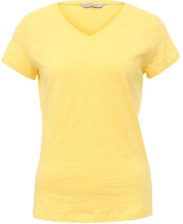 Футболка женская Sela, цвет: желтый. Ts-111/1227-7181. Размер XS (42)Ts-111/1227-7181Стильная женская футболка Sela станет отличным дополнением к гардеробу каждой модницы. Модель полуприлегающего силуэта с V-образным вырезом горловины и короткими рукавами изготовлена из натурального хлопка. Воротник дополнен мягкой эластичной бейкой.Универсальный цвет позволяет сочетать модель с любой одеждой.