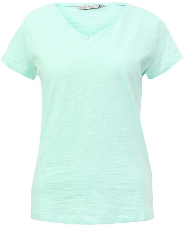 Футболка женская Sela, цвет: зеленый. Ts-111/1227-7181. Размер XXS (40)