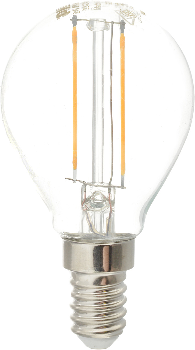 "Лампа светодиодная Philips ""LED bulb"", цоколь E14, 2W, 2700K"