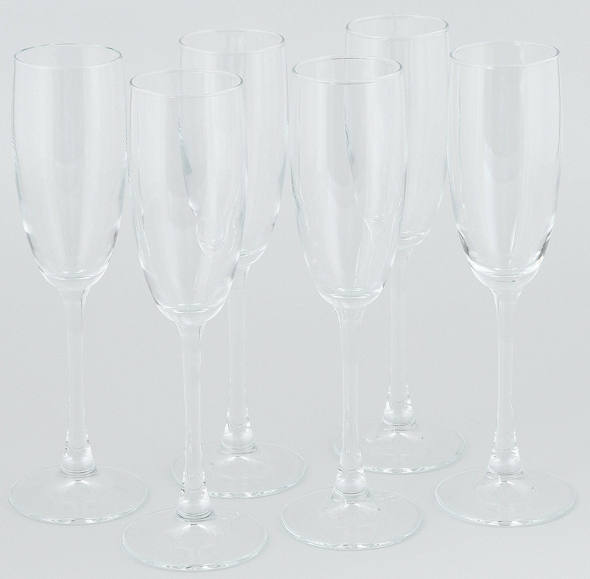 """Набор Pasabahce """"Enoteca"""" состоит  из шести классических фужеров, выполненных из  прочного стекла. Изделия  оснащены высокими ножками и предназначены  для подачи шампанского. Они сочетают в себе элегантный дизайн и  функциональность. Набор фужеров Pasabahce """"Enoteca"""" прекрасно  оформит праздничный стол  и создаст приятную атмосферу за  романтическим ужином. Такой набор также станет  хорошим подарком к любому случаю.   Высота фужера: 23 см."""