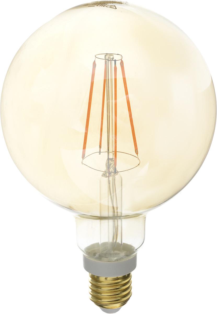 Лампа светодиодная Philips LED bulb, цоколь E27, 7W, 2000KЛампа LEDCl 7-60W G120 E27 2000K GOLDСовременные светодиодные лампы LED bulb экономичны, имеют долгий срок службы и мгновенно загораются, заполняя комнатусветом. Лампа классической формы и высокой яркости позволяет создать уютную и приятную обстановку в любой комнате вашего дома. Светодиодные лампы потребляют на 88 % меньше электроэнергии, чем обычные лампы накаливания, излучая при этом привычный и приятныйтеплый свет. Срок службы светодиодной лампы LED bulb составляет до 15 000 часов, что соответствует общему сроку службыпятнадцати ламп накаливания. Благодаря чему менять лампы приходится значительно реже, чтосокращает количество отходов. Напряжение: 220-240 В.Световой поток: 630 lm. Эквивалент мощности в ваттах: 60 Вт.