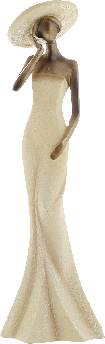 Фигурка декоративная Феникс-Презент Дама в белом, цвет: бежевый, бронзовый, высота 30,5 см43542Декоративная фигурка Феникс-Презент Дама в белом, изготовленная из полирезина, выполнена в виде девушки в длинном белом платье и в шляпе. Вы можете поставить фигурку в любом месте, где она будет удачно смотреться и радовать глаз. Сувенир отлично подойдет в качестве подарка близким или друзьям. Размер фигурки: 10 х 7,5 х 30,5 см.