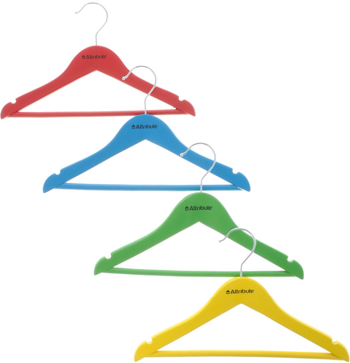 Набор детских вешалок Attribute Hanger Home, длина 30 см, 4 шт набор вешалок для одежды home queen клубничка цвет красный голубой фиолетовый 3 шт