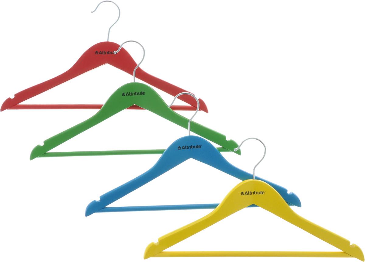 Набор детских вешалок Attribute Hanger Home, длина 35 см, 4 шт набор вешалок для одежды home queen клубничка цвет красный голубой фиолетовый 3 шт