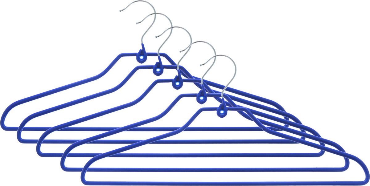 Набор вешалок для одежды Attribute Hanger Neo, цвет: синий, 5 штAHS725Набор Attribute Hanger Neo состоит из 5 вешалок для одежды, выполненных из стали и ПВХ. Изделия оснащены перекладинами.Вешалка - это незаменимая вещь для того, чтобы ваша одежда всегда оставалась в хорошем состоянии.Комплектация: 5 шт.Размер вешалки: 42 х 19 х 0,5 см.