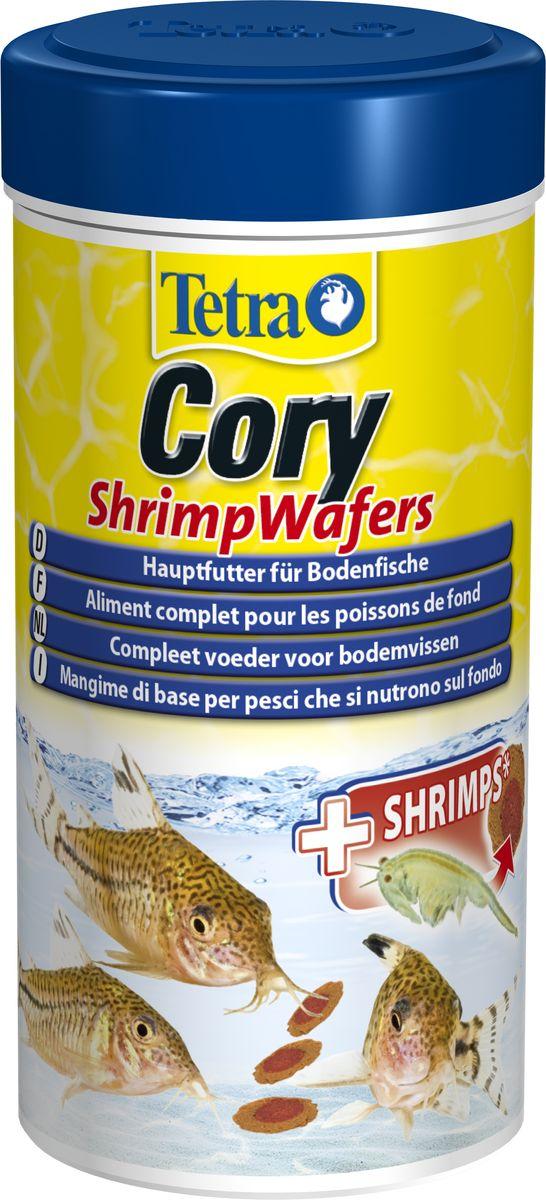 Корм Tetra Cory Shrimp Wafers, для сомиков-коридорасов, с добавлением креветок, пластинки, 250 мл сомиков в оренбурге aквaриумных