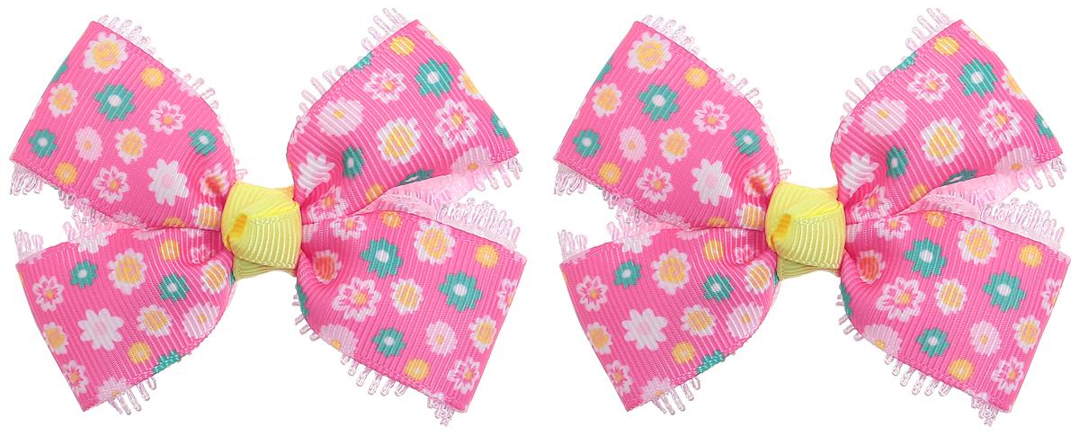 Baby's Joy Резинки для волос цвет розовый зеленый желтый 2 шт