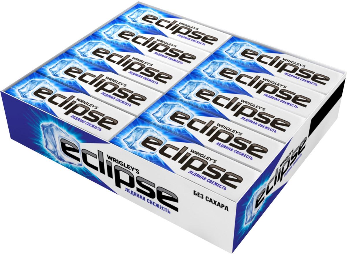 Eclipse Ледяная свежесть жевательная резинка без сахара, 30 пачек по 13,6 г4009900392969Попробуйте по-настоящему ледяную свежесть. Жевательная резинка Eclipse освежает дыхание и придает уверенности в общении. Уверен в дыхании - уверен в себе!Уважаемые клиенты! Обращаем ваше внимание, что полный перечень состава продукта представлен на дополнительном изображении.